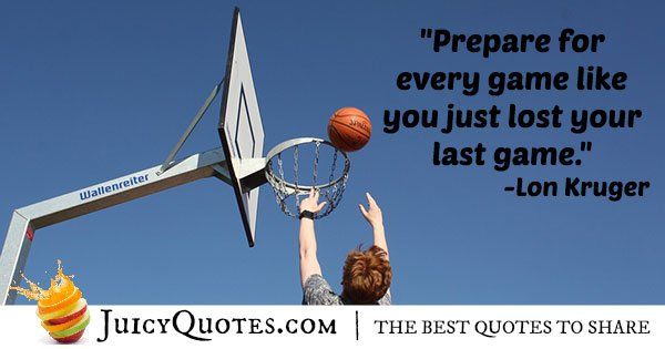 Prepare For The Game Quote