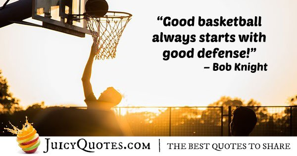 Basketball Defense Quote