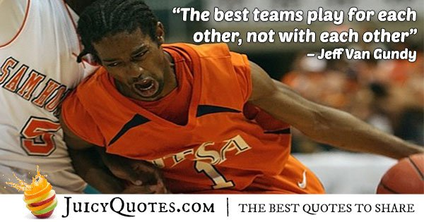 Basketball Teamwork Quote