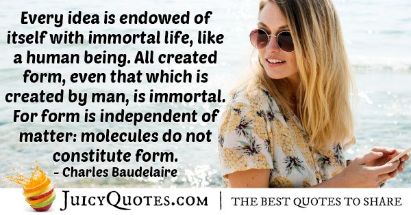 Immortality Life Quote