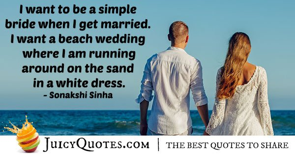 Simple Bride Quote