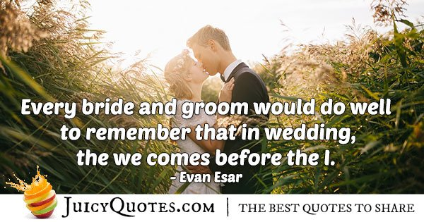 Bride and Groom Quote
