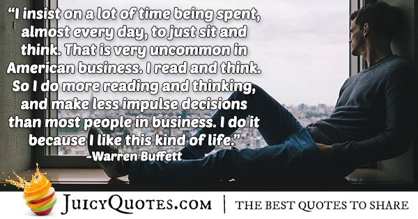 Warren Buffet Business Quote