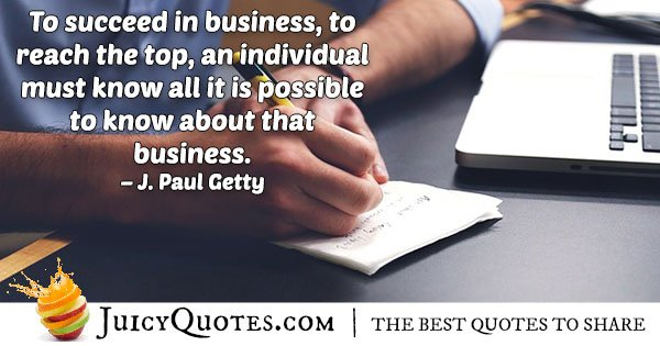 Business World Quote