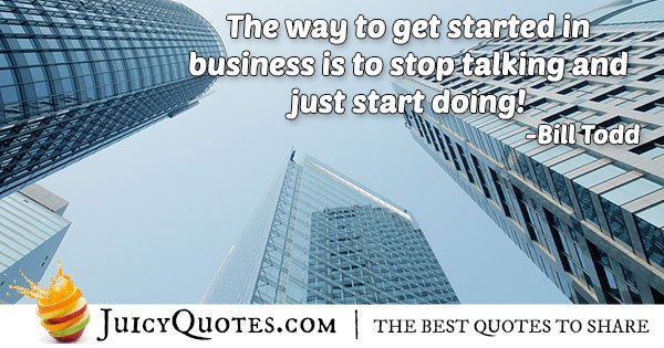 Starting Business Quote