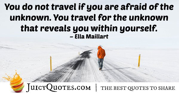 Unknown Traveling Quote