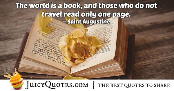 World is a Book Quote
