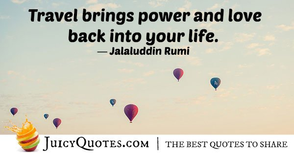 Travel Brings Power Quote