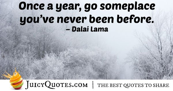 Travel Once A Year Quote