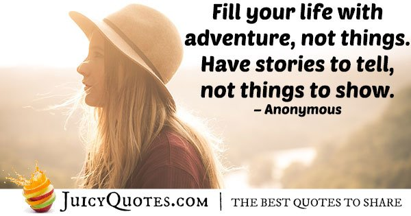 Life and Adventures Quote