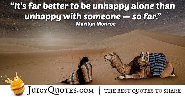 Unhappy Alone Quote