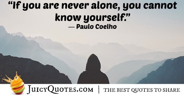 Never Alone Quote
