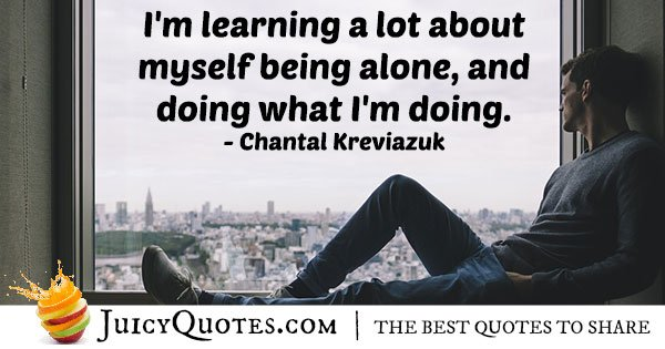 Being By Myself Quote