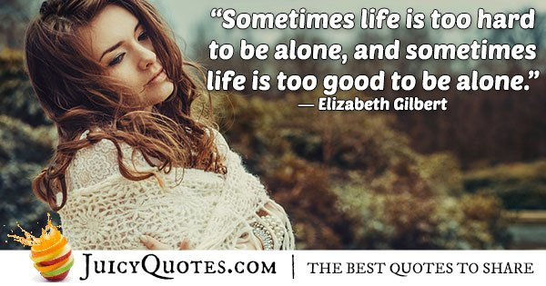 Quote About Being Alone