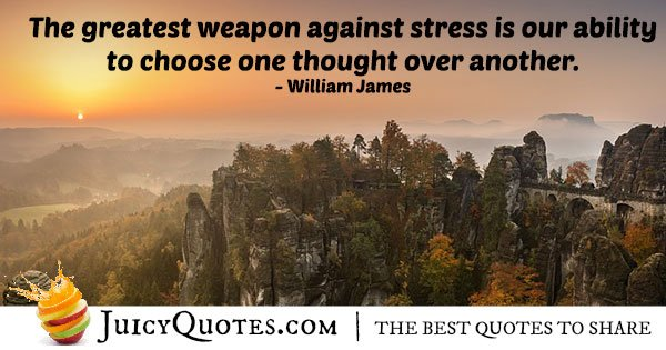 Weapon Against Anxiety Quote