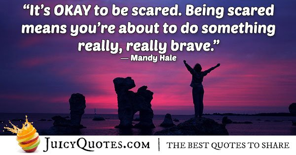 Scared and Anxiety Quote