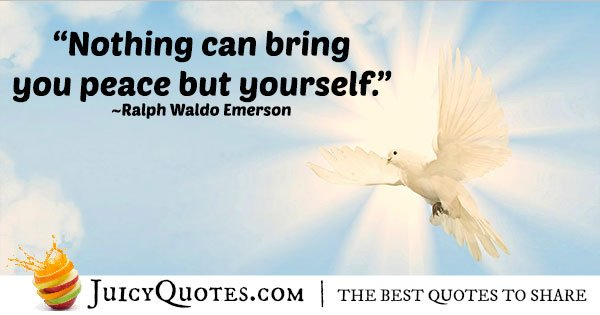 Peace With Yourself Quote