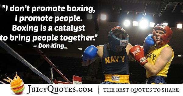 Promote Boxing Quote