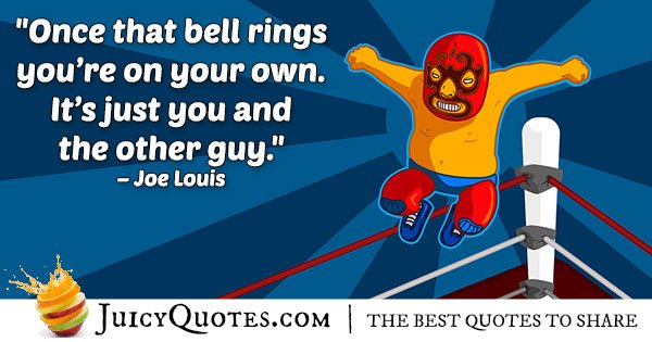 Boxing Ring Bell Quote