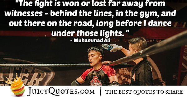 Boxing Quote By Muhammad Ali
