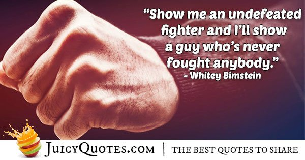 Undefeated Boxer Quote