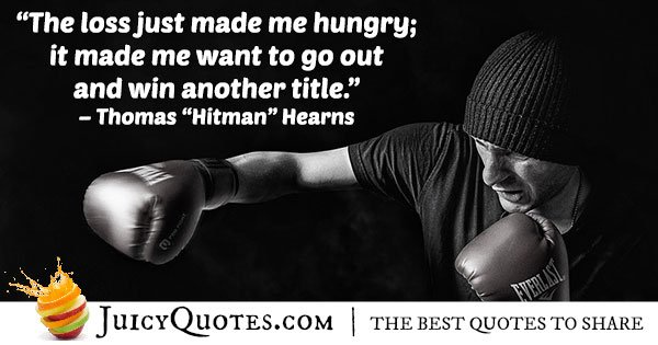 Winning Boxing Title Quote