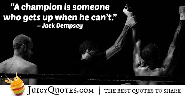 A Boxing Champion Quote