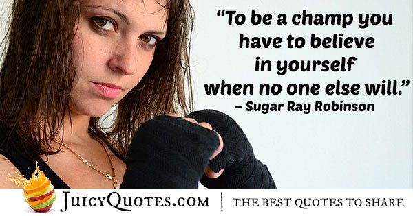 Boxing Champ Quote