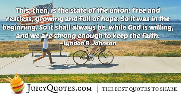 4th of July Hope Quote