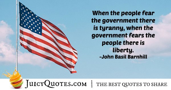 4th of July Government Quote