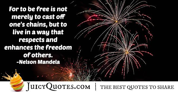 Nelson Mandela 4th of July Quote