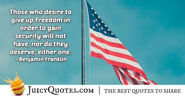 Fourth of July Quote About Freedom