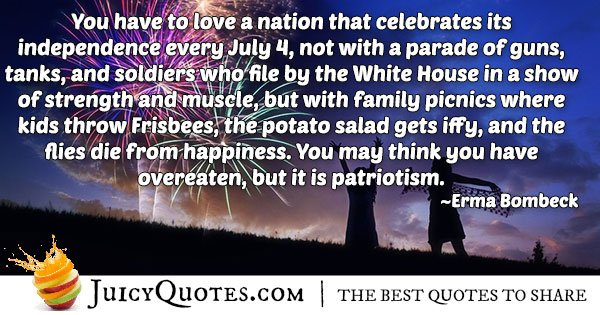 4th of July Patriotism Quote