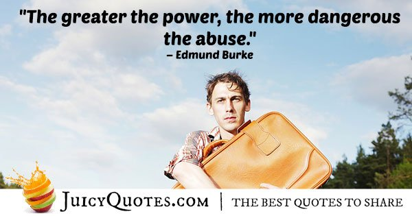 Power and Abuse Quote