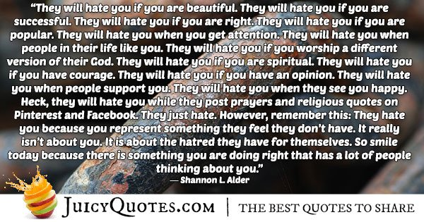 Hate and Abuse Quote