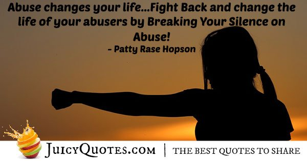 Fight Abuse Quote