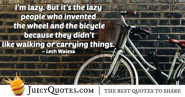 Lazy and Accomplishments Quote