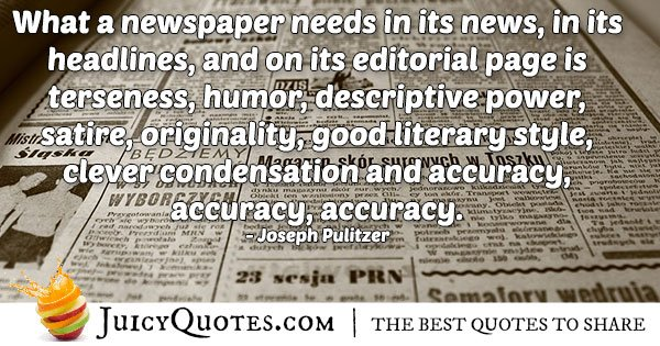 News and Accuracy Quote