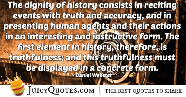 Accuracy and History Quote