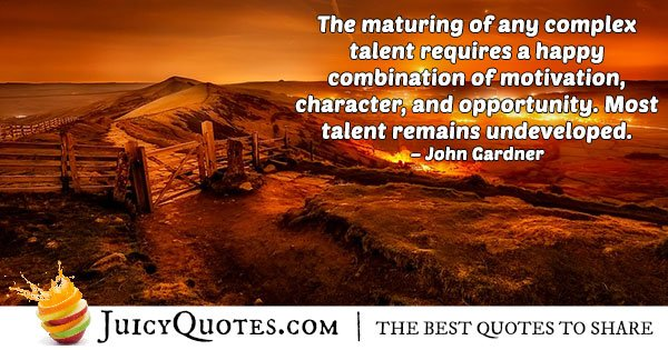 Talents and Ability Quote