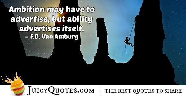 Ambition and Abilities Quote