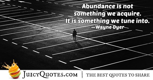 Quote About Abundance