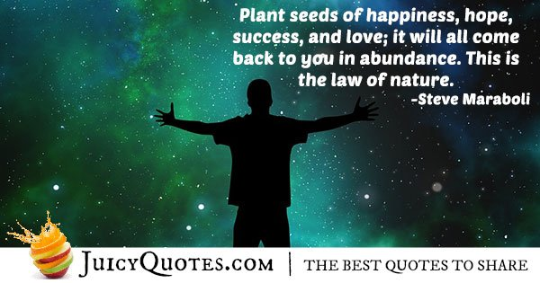 Law of Abundance Quote
