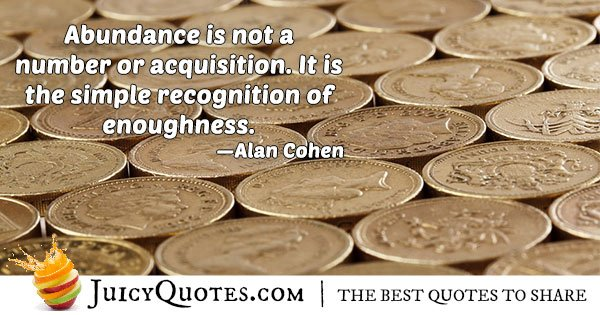 Enough and Abundance Quote