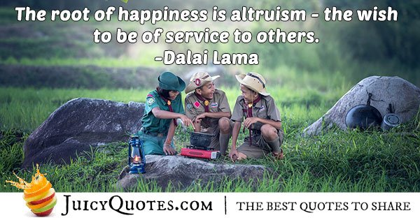 Happiness and Altruism Quote