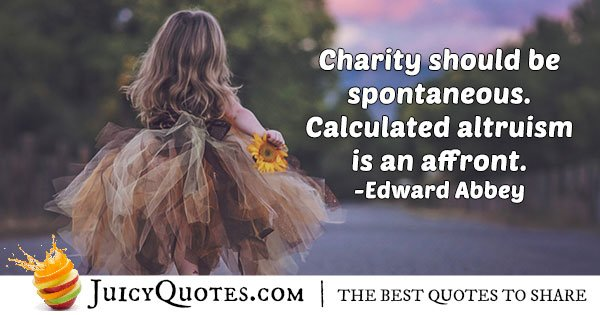 Charity and Altruism Quote