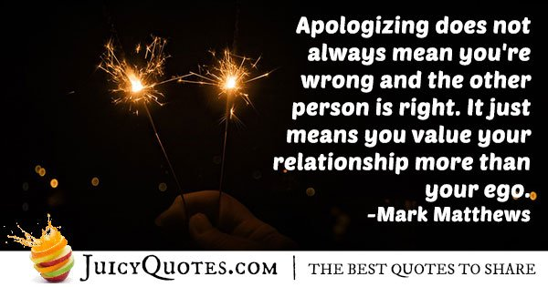 Quote About Apologizing