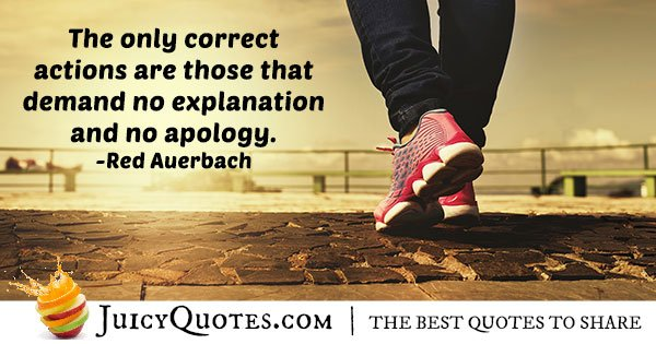 No Apology Quote