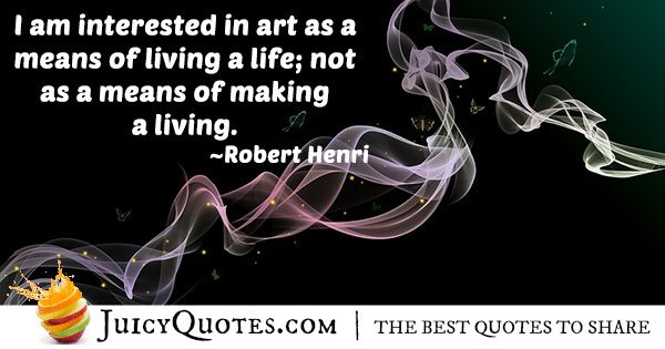 Interested in Art Quote