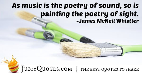 Poetry and Painting Quote